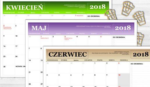 3 PLANNERY – II KWARTAŁ 2018 R.