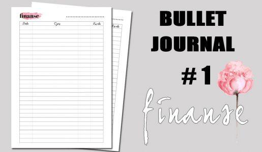 BULLET JOURNAL – FINANSE