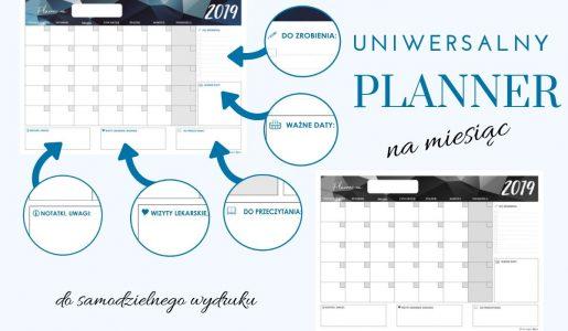 Uniwersalny planner – styczeń 2019