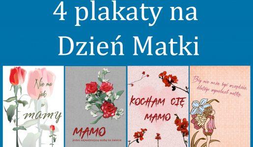 4 plakaty dodruku naDzień Matki